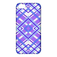 Geometric Plaid Pale Purple Blue Apple Iphone 5c Hardshell Case