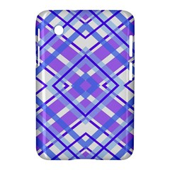 Geometric Plaid Pale Purple Blue Samsung Galaxy Tab 2 (7 ) P3100 Hardshell Case