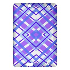 Geometric Plaid Pale Purple Blue Amazon Kindle Fire Hd (2013) Hardshell Case