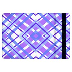 Geometric Plaid Pale Purple Blue Ipad Air Flip