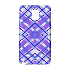 Geometric Plaid Pale Purple Blue Samsung Galaxy Note 4 Hardshell Case