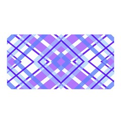 Geometric Plaid Pale Purple Blue Satin Wrap