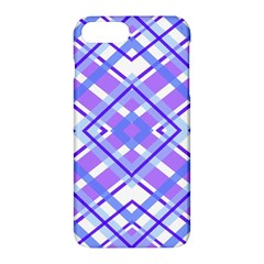 Geometric Plaid Pale Purple Blue Apple Iphone 7 Plus Hardshell Case
