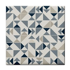 Geometric Triangle Modern Mosaic Tile Coasters