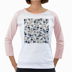 Geometric Triangle Modern Mosaic Girly Raglans