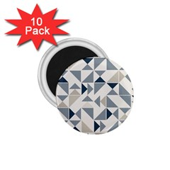 Geometric Triangle Modern Mosaic 1 75  Magnets (10 Pack)