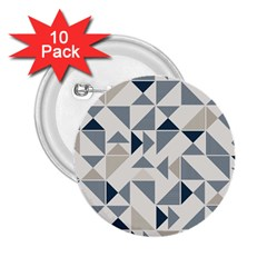 Geometric Triangle Modern Mosaic 2 25  Buttons (10 Pack)