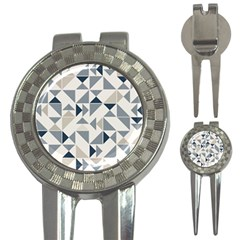 Geometric Triangle Modern Mosaic 3 In 1 Golf Divots