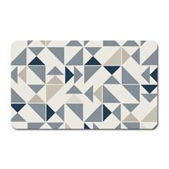 Geometric Triangle Modern Mosaic Magnet (rectangular)