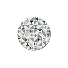Geometric Triangle Modern Mosaic Golf Ball Marker