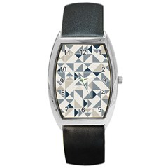 Geometric Triangle Modern Mosaic Barrel Style Metal Watch