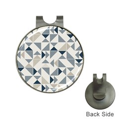 Geometric Triangle Modern Mosaic Hat Clips With Golf Markers