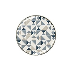 Geometric Triangle Modern Mosaic Hat Clip Ball Marker (4 Pack)