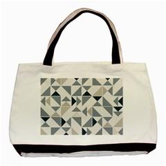 Geometric Triangle Modern Mosaic Basic Tote Bag