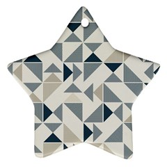 Geometric Triangle Modern Mosaic Star Ornament (two Sides)