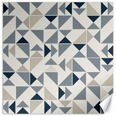 Geometric Triangle Modern Mosaic Canvas 12  X 12