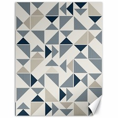 Geometric Triangle Modern Mosaic Canvas 18  X 24