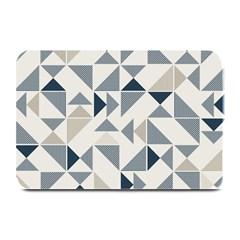 Geometric Triangle Modern Mosaic Plate Mats