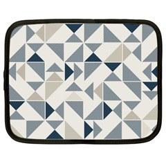 Geometric Triangle Modern Mosaic Netbook Case (XXL)