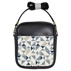 Geometric Triangle Modern Mosaic Girls Sling Bags