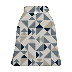 Geometric Triangle Modern Mosaic Bell Ornament (two Sides)