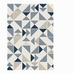 Geometric Triangle Modern Mosaic Small Garden Flag (two Sides)