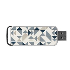 Geometric Triangle Modern Mosaic Portable Usb Flash (two Sides)