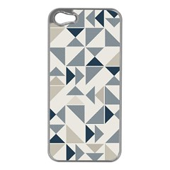Geometric Triangle Modern Mosaic Apple Iphone 5 Case (silver)