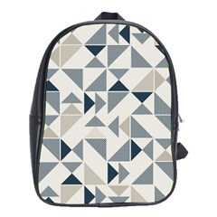 Geometric Triangle Modern Mosaic School Bags (xl)