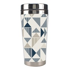 Geometric Triangle Modern Mosaic Stainless Steel Travel Tumblers