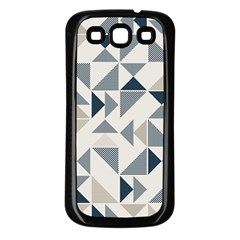 Geometric Triangle Modern Mosaic Samsung Galaxy S3 Back Case (black)