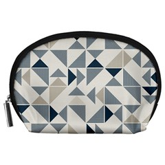 Geometric Triangle Modern Mosaic Accessory Pouches (large)