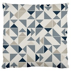 Geometric Triangle Modern Mosaic Large Flano Cushion Case (two Sides)
