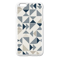 Geometric Triangle Modern Mosaic Apple Iphone 6 Plus/6s Plus Enamel White Case