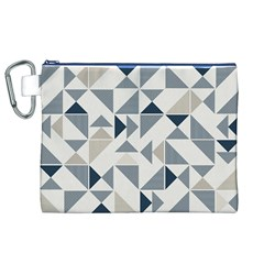 Geometric Triangle Modern Mosaic Canvas Cosmetic Bag (xl)