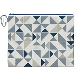 Geometric Triangle Modern Mosaic Canvas Cosmetic Bag (xxxl)