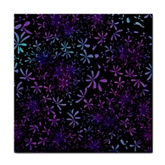 Retro Flower Pattern Design Batik Tile Coasters