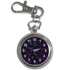 Retro Flower Pattern Design Batik Key Chain Watches