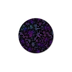 Retro Flower Pattern Design Batik Golf Ball Marker (10 pack)