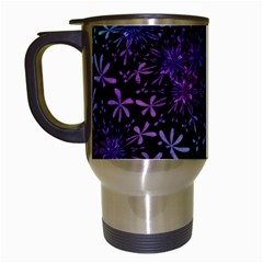 Retro Flower Pattern Design Batik Travel Mugs (white)
