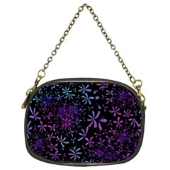 Retro Flower Pattern Design Batik Chain Purses (one Side)