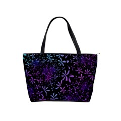 Retro Flower Pattern Design Batik Shoulder Handbags