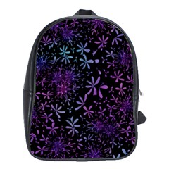 Retro Flower Pattern Design Batik School Bags(large)