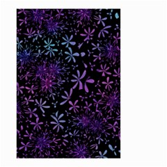 Retro Flower Pattern Design Batik Small Garden Flag (two Sides)