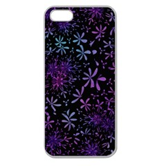 Retro Flower Pattern Design Batik Apple Seamless Iphone 5 Case (clear)