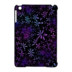 Retro Flower Pattern Design Batik Apple Ipad Mini Hardshell Case (compatible With Smart Cover)