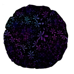 Retro Flower Pattern Design Batik Large 18  Premium Round Cushions