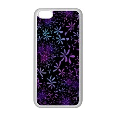 Retro Flower Pattern Design Batik Apple Iphone 5c Seamless Case (white)