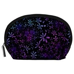 Retro Flower Pattern Design Batik Accessory Pouches (large)