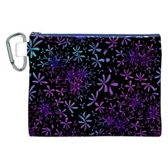 Retro Flower Pattern Design Batik Canvas Cosmetic Bag (xxl)